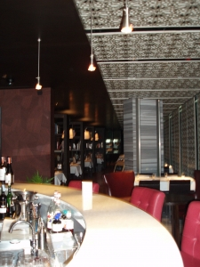 La Truffe Bar & Restaurant behind