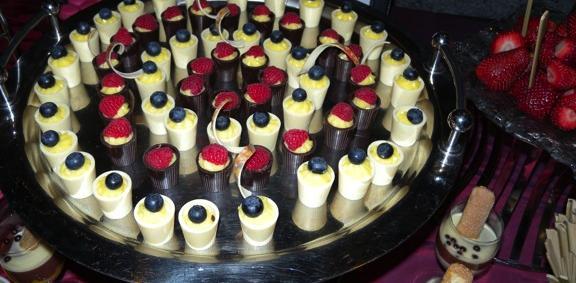 One of the many dessert displays, Beaujolais Nouveau 2009 (photo image: restaurantdiningcritiques.com)