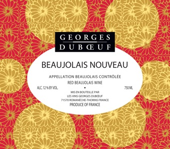 Georges Duboeuf Beaujolais Nouveau 2009 (image file: property of Georges Duboeuf)