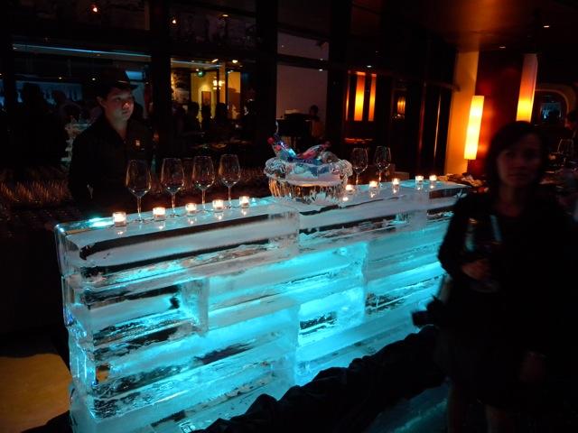 Ice Bar. Beaujolais Nouveau 2009 (photo image: restaurantdiningcritiques.com)