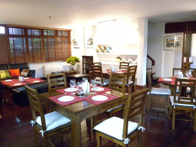 Lake House, air-conditioned dining room