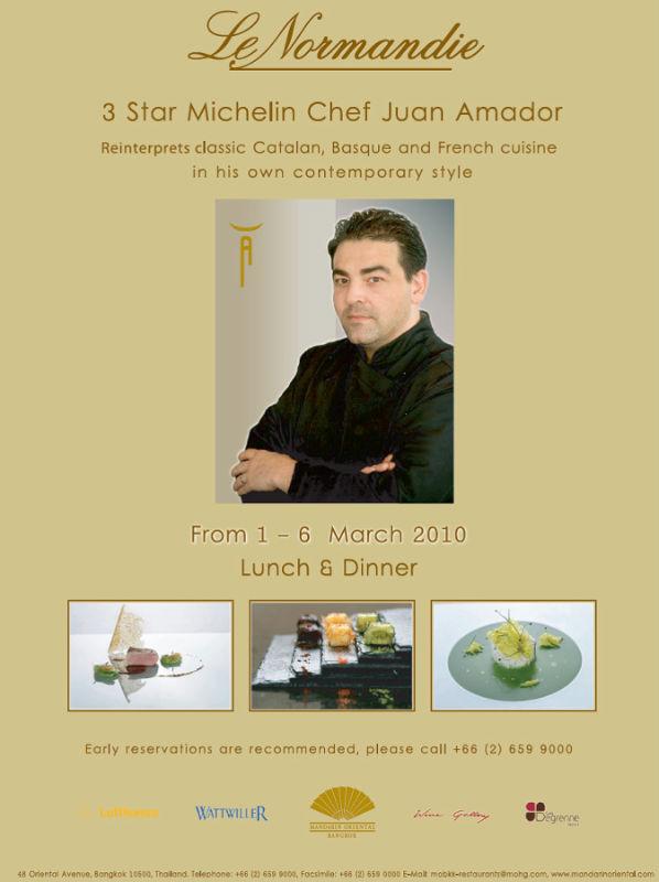 Juan Amador, Guest Chef Le Normandie Mar 1-6 2010