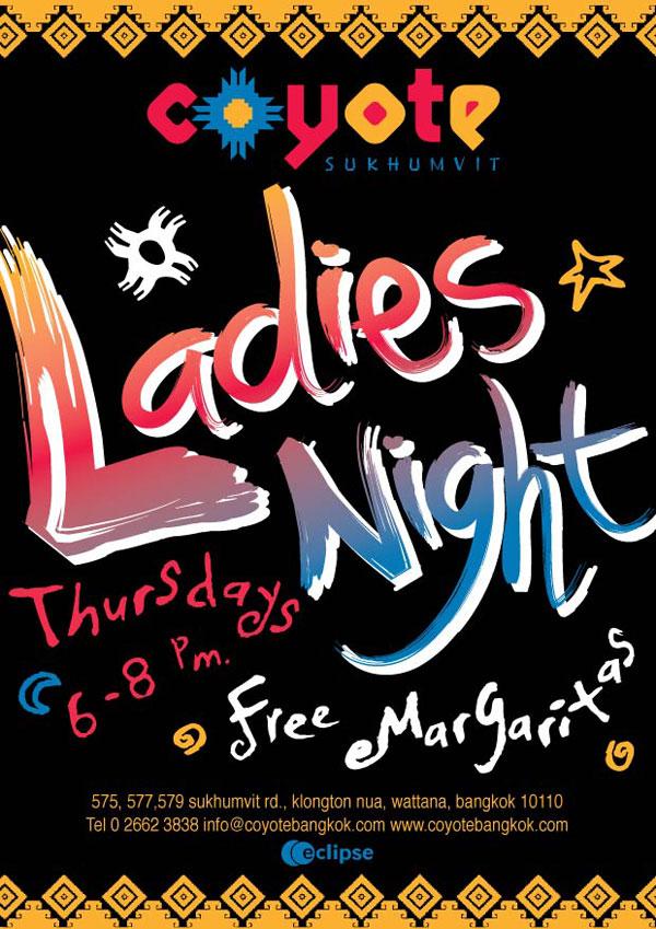 Ladies Night at Coyote Sukhumvit Road, Bangkok
