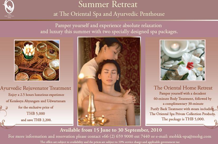 Oriental Spa, Mandarin Oriental Hotel, Bangkok